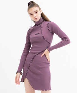 [B ABLE TWO] Unbalance Turtleneck Dress