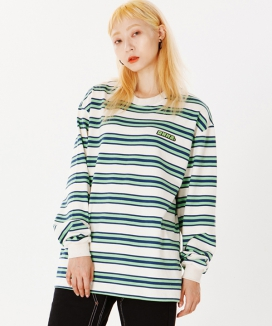 [RUNNING HIGH] RNHI STRIPE L/S TEE