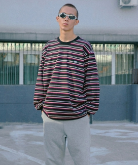 [CRITIC] STRIPE LONG SLEEVE T-SHIRT