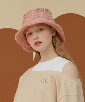 [oioi] KNIT BUCKET HAT