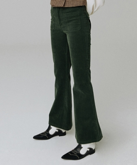 [MGMG STUDIO] Corduroy pocket pants