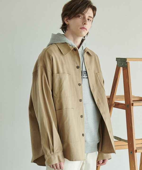 [ANOUTFIT] UNISEX OVERFIT FIELD SHIRTS JACKET