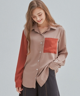 [MANAVIS7] UNIQUE SATIN SHIRT