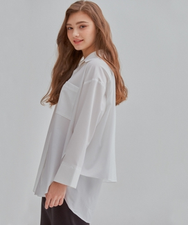 [MANAVIS7] LOOSE FIT BACK FLAP SHIRT