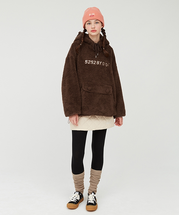 [5252 by oioi] 5252 POCKET FUR HOODIE
