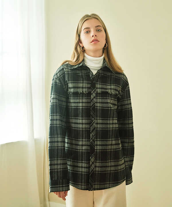 [CLIF] RAW CUT CHECK SHIRT