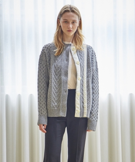 [INES] PATCH POINT CARDIGAN
