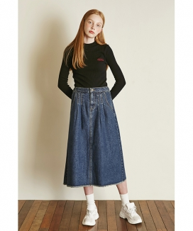 [Between A and B] BANDING DENIM SKIRT