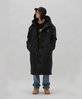 [WKNDRS] DENIM HOODED PARKA