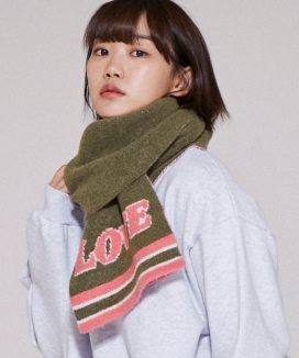 [URBANDTYPE] Cozy LOVE Knit muffler