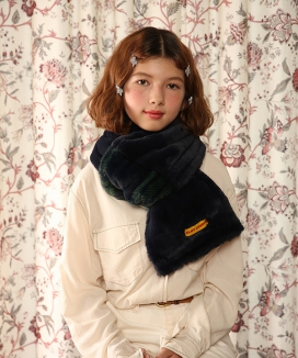 [CLUTSTUDIO] fake fur two tone muffler