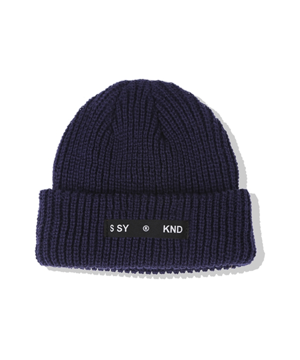 [S SY] LABEL KNIT WATCH CAP