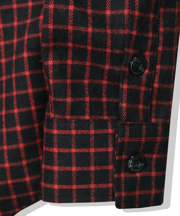 [S SY] LOOSE FIT CROSS CHECK SHIRT