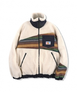 [youthbath] Over-fit pattern zip up fleece_TJ09