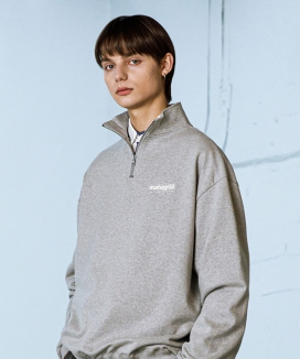 [MAHAGRID] HALF ZIP SWEAT SHIRTS