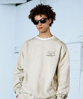 [MAHAGRID] LICENSE PIGMENT CREWNECK