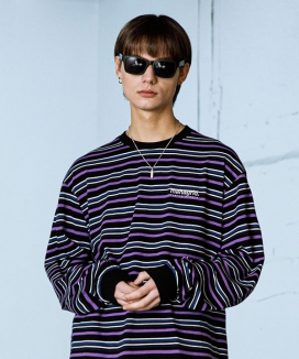 [MAHAGRID] 5 COLORS STRIPED LS TEE
