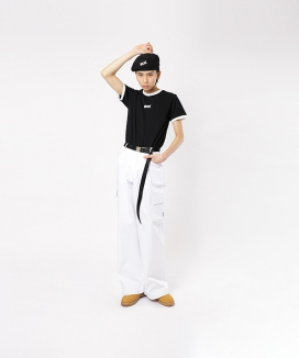 [BASIC COTTON] BCN LINE HALF TOP / BCNラインハーフ ティーシャツ