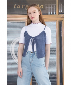 [TARGETTO] KNITTED BUSTIER / ニッテドビスチェ