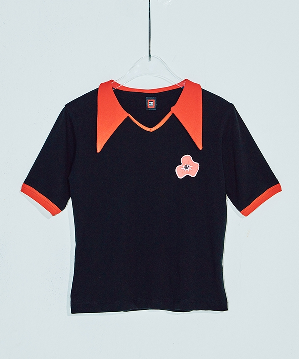 [MIMICAWE] POPPY COLLAR TOP / ポッピーカラートップス