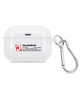 [CHUCK] CHUCK CYLINDER AIRPODS PRO CLEAR CASE / CHUCKシリンダーAirPods pro クリアケース
