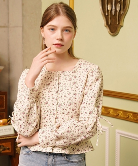 [LETTER FROM MOON] BE MY MUSE FLOWER BLOUSE / BE MY MUSE フラワーブラウス