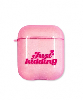 [MAINBOOTH] Just Kidding Glitter Airpods Case / Just KiddingグリッターAirPodsケース