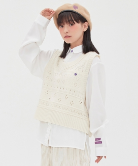 [TARGETTO] SCASI KNIT VEST / 透かしニットベスト