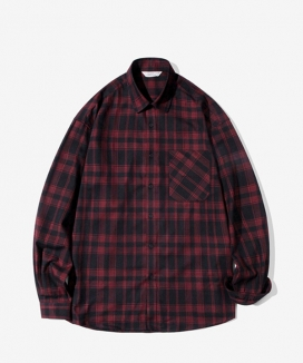 [Diamond Layla] Layla blind for love Cross Red - Black Check Shirt S63 / クロス レッドブラックチェックシャツ
