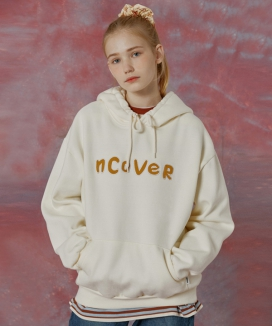 [NCOVER] Signature patch logo hoodie / シグネチャー パッチロゴフーディ