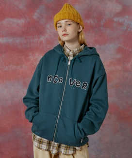 [NCOVER] Signature patch logo hoodie zipup / シグネチャーパッチロゴ ジップアップフーディ