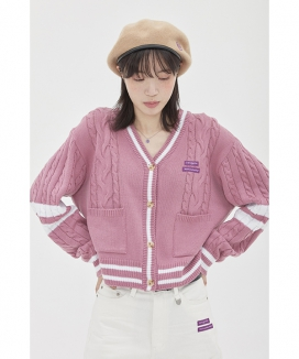 [TARGETTO] COMBI CABLE CARDIGAN / コンビケーブルカーディガン