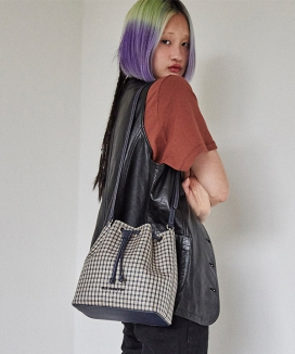 [FUN FROM FUN] Carrie check 3way bucket bag / キャリーチェック 3WAYバケットバッグ