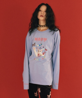 [CLUT STUDIO] meow meow cat t-shirt / ニャーニャーキャットティーシャツ