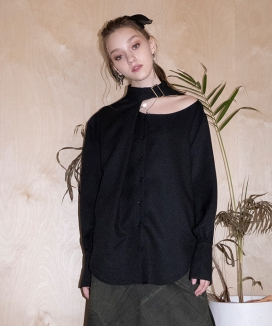 [B ABLE TWO] Stacy Halter Neck Blouse / ステイシー ホルターネックブラウス