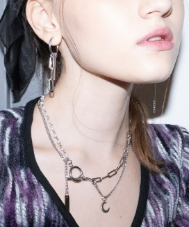 [B ABLE TWO] Luna Mixed Chain Necklace / ルナミックスチェーンネックレス