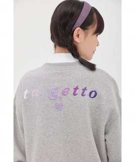 [TARGETTO] GRADATION LOGO SWEAT SHIRT / グラデーションロゴ