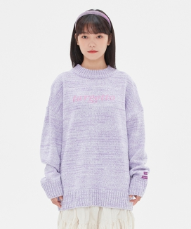 [TARGETTO] LOGO COLOR MIX KNIT / ロゴ カラーミックスニット