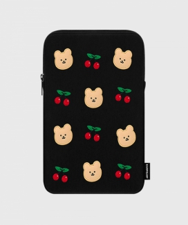 [EARPEARP] ドットチェリーベア(iPadポーチ)  / Dot cherry bear (iPad pouch)