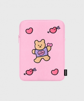 [EARPEARP] ベアハート(iPadポーチ)  / Bear heart (iPad pouch)