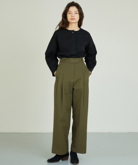 [ANEDIT] 2ピンタックパンツ / AE_Two Pintuck Pants