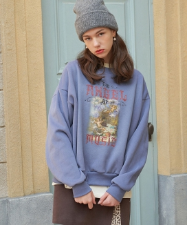 [LETTER FROM MOON] Angel of Music ナッピング スウェットシャツ / Angel of Music Napping Sweatshirts