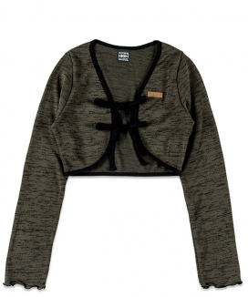 [RUNNING HIGH] ダブルストリング ニットボレロカーディガン / DOUBLE STRING KNITTED BOLERO CARDIGANsutoin
