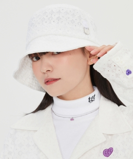 [TARGETTO] レースハートリング バケットハット / LACE HEART RING BUCKET HAT