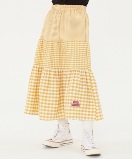 [TARGETTO] ギンガムチェック ロングフレアスカート / GINGHAMCHECK LONG FLARE SKIRT