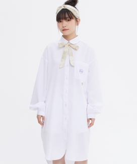[TARGETTO] [FRIZMWORKS X TGT]リボンラウンドシャツワンピース / [FRIZMWORKS X TGT]RIBBON ROUND SHIRTS ONEPIECE