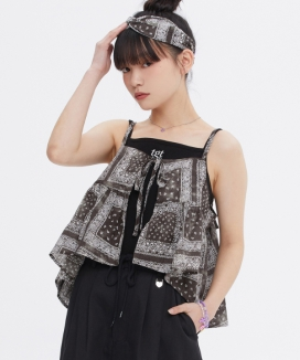 [TARGETTO] [FRIZMWORKS X TGT] ペイズリービスチェ / [FRIZMWORKS X TGT]PAISLEY BUSTIER