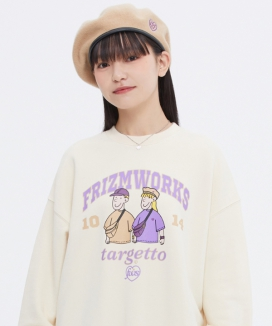 [TARGETTO] [FRIZMWORKS X TGT] カップルグラフィック スウェットシャツ / [FRIZMWORKS X TGT]COUPLE GRAPHIC SWEAT SHIRT