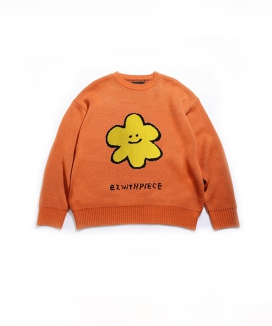 [PIECEMAKER] デイジーOVニットセーター / [EZwithPIECE] DAISY OV KNIT SWEATER