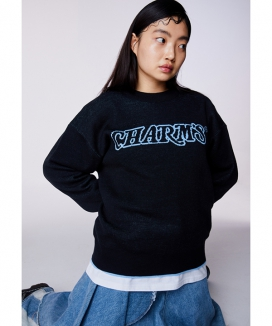 [CHARMS] ウェーブロゴニット / CHARMS WAVE LOGO KNIT
